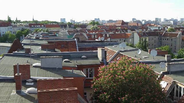 Berlin Neukölln – Blick über Dächer und Hinterhöfe